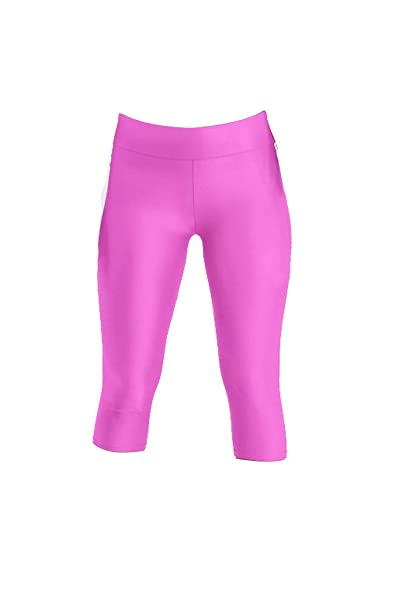 ee4802310e919e Sipaya Capri Leggings for Women High Waist Exercise Pants Workout Leggings  Fuchsia S