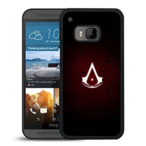 M9 case,Assassins Creed Assassins Symbol Red Background Dots HTC ONE M9 cover