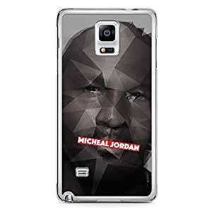 Micheal Jordan Samsung Note 4 Transparent Edge Case - Heroes Collection