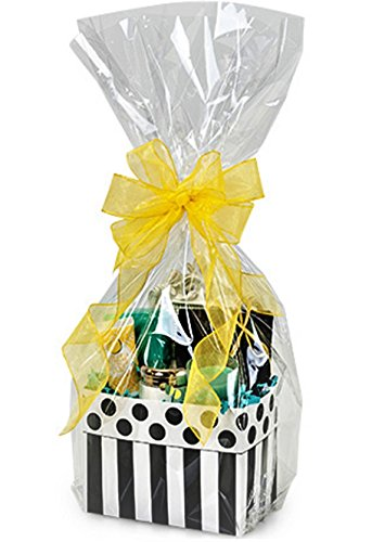 10 Clear Cello/cellophane Basket Bags - 14