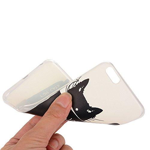 Für Apple iPhone 6 Plus / iPhone 6S Plus (5.5 Zoll) Hülle ZeWoo® TPU Schutzhülle Silikon Tasche Case Cover - YG012/ Lesen Katze