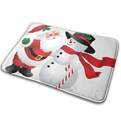 (Baerg Non-Slip Stain Fade Resistant Door Mat Cute Christmas Clipart Snowman Living Room Rug Carpet 15.7