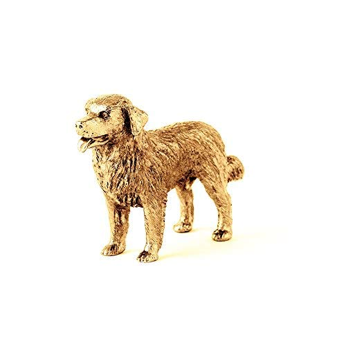 Bernese Mountain Dog Made in UK Artistic Style Dog Figurine Collection 22ct Gold Plated