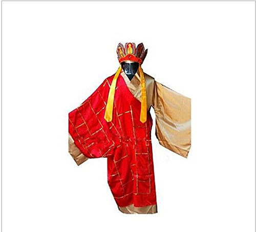 [China Classics Literature Journey to the West Person Clothes Tang Monk Clothes Costume Cosplay Party] (Monks Costumes)