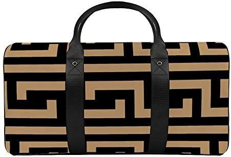 ラクダギリシャブラック1 旅行バッグナイロンハンドバッグ大容量軽量多機能荷物ポーチフィットネスバッグユニセックス旅行ビジネス通勤旅行スーツケースポーチ収納バッグ