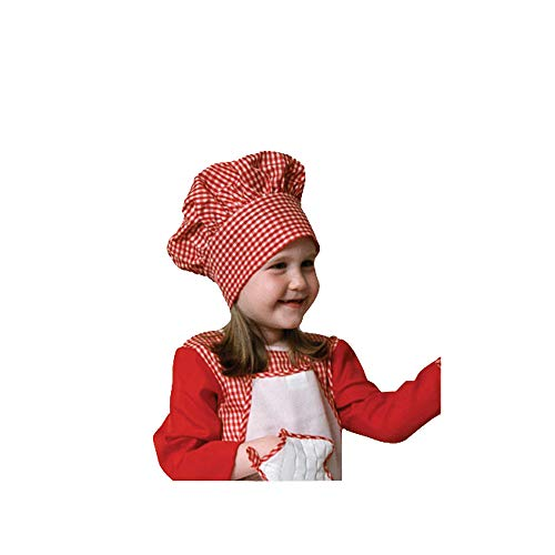 - Dress Up America Little Red Gingham Chef Hat-Kids, One Size Fits