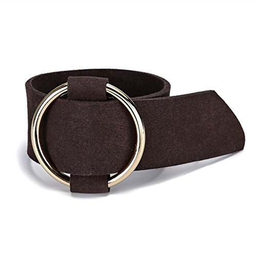 Aienid Leather Ankle for Women Straps Genuine Oversized Bracelet Belt Buckle from Aienid