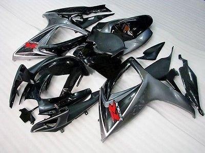Oem Suzuki Fairings - Black Grey Fairing Injection Kit for 2006-2007 Suzuki GSXR GSX-R 600 750