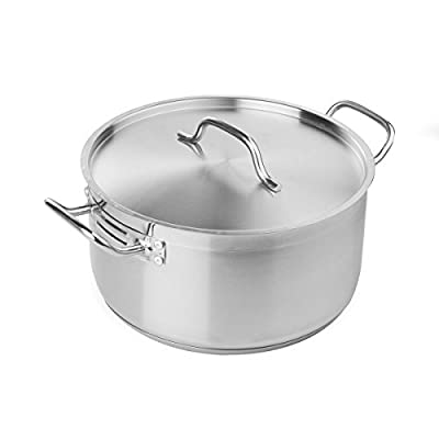 FortheChef's 8 Qt. Induction-Ready Stainless Steel Braiser