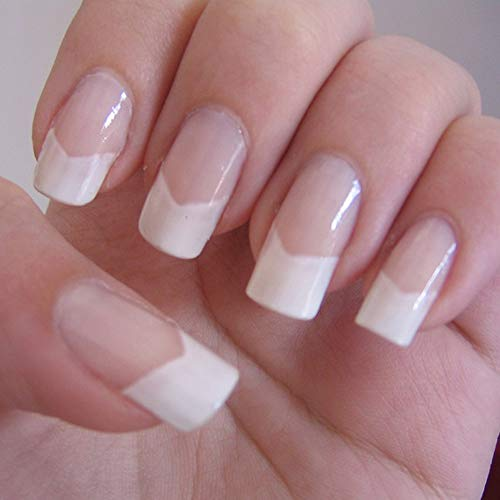 AORAEM 500pcs Lady French Acrylic Style Artificial False Nails Half Tips & Box (Natural)
