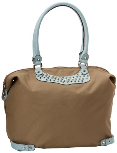 Rebecca Minkoff Travel With Studs 10TETOXRE2 Tote,Baby Blue,One Size, Bags Central