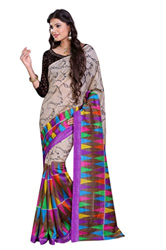 Glory Sarees Woman's Bhagalpuri Art Silk Saree VNArt02