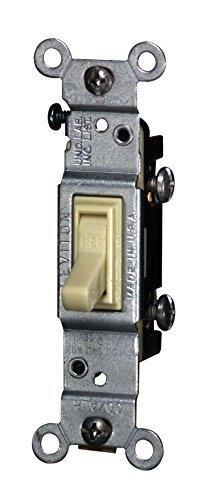 Leviton Toggle Switch Single Pole Co/Alr 15 Amp Ivory Csa Boxed