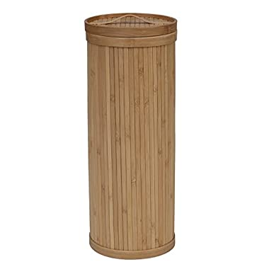 Creative Bath Eco Styles Upright 3 Roll Toilet Tissue Holder, Natural/Bamboo