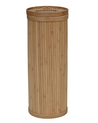 (Creative Bath Eco Styles Upright 3 Roll Toilet Tissue Holder, Natural/Bamboo)