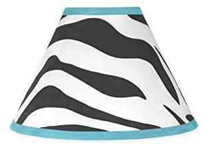Turquoise Funky Zebra Lamp Shade by Sweet Jojo Designs