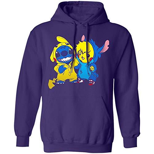 USA Shop Stitch Hoodie Pikachu Pokemon Sweatshirt Pullover Hoodie Men's Hoodie, Women's Hoodie, Unisex Clothing -