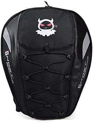 多機能バックパックオックスフォード布大容量オートバイリアバッグレーシングバックシートバッグ男性と女性のバックパックブラック(防水カバー) 絶妙