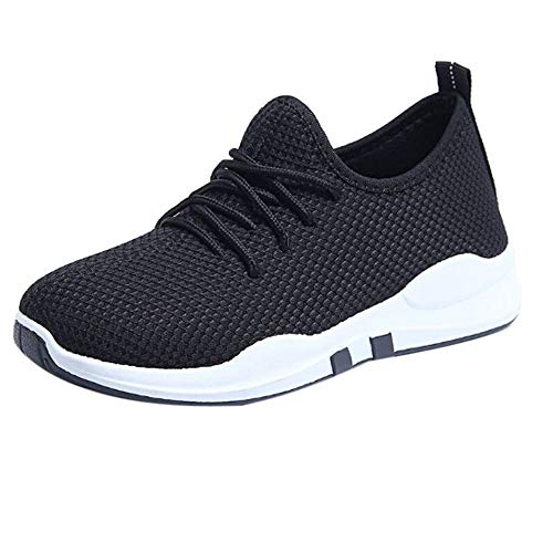 SSYUNO Women's Casual Walking Athletic Running Sneakers Mesh Breathable Comfort Tennis Jogging Sport Gym Shoes Black