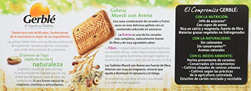 GERBLE - Galletas muesli con avena paquete 230 gr: Amazon.es: Alimentación y bebidas