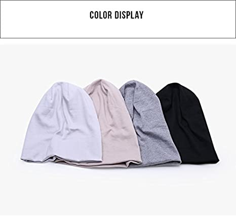 Man/&Y Solid Color Unisex Men Women Skullies Beanies Hedging Cap Knit Knitted Cotton Double Layer Fabric Caps Bonnet Hat Color : Beige