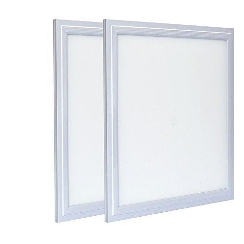 Zoopod 12W 12'' x 12'' LED Flat Panel Light, 6000K Cool White, Ultra Thin Edge-lit Square LED Panel Ceiling Light