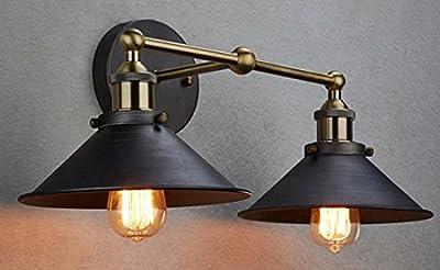 Truelite Industrial Vintage Simplicity Edison 2-Light Aged Steel Wall Sconce