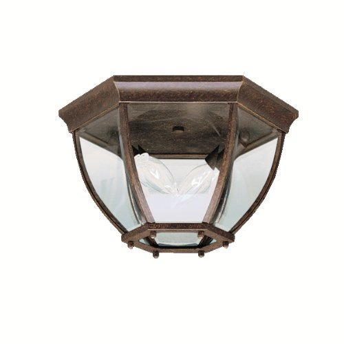 Kichler Lighting 9886TZ 2 Light Townhouse Flush Outdoor Close Light, Tannery Bronze by Kichler Lighting by KICHLER