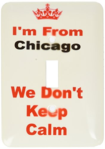 3dRose lsp_180038_1 dont keep calm, Chicago, red and black lettering on white background - Single Toggle Switch