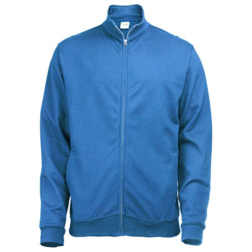 Donna By Full Zip Just Fresher Reale Felpa Hoods Sweat Blu Awdis IIS8w