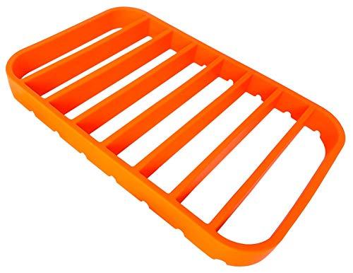 "STAN BOUTIQUE Silicone Roasting Rack - Baking Racks for Oven Use | Cooking Racks for Sheet Pan - Turkey Roasting Rack Nonstick, Orange (7"" X 10.8"")"