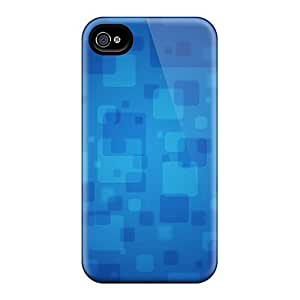 Snap-on Cases Designed For Iphone 6plus- Blue Squares