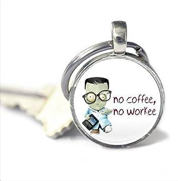 Llavero de café, con cita de café, sin café, sin llavero ...
