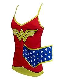 Dc Comics Wonder Woman Cami & Panty Set for women (Medium)