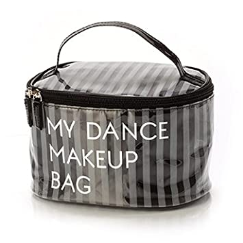 Amazon Com Yofi Cosmetics My Dance Makeup Bag Large Grey Beauty