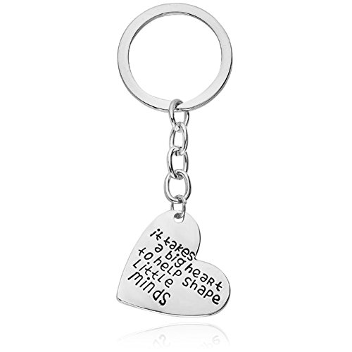 Best Teachers' Day Gifts for Teacher It Takes A Big Heart To Help Shape Little Minds Heart Pendant Keychain