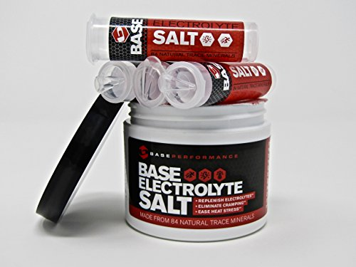 BASE Performance electrolyte salt | 226 Servings tub with 4 refillable race vials. Prevent cramping and gastrointestinal distress using an all natural formula rapidly absorbed. by BASE Performance