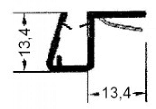 Universal Anschlagprofil 2500 mm lang, für 6 + 8 mm Glässtärke