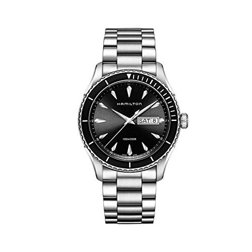 Hamilton-Mens-H37511131-Jazzmaster-Analog-Display-Quartz-Silver-Watch