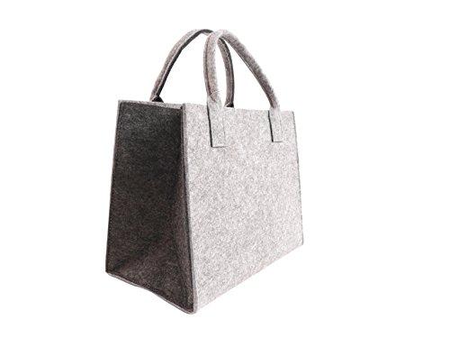 CB Home & Style - Bolso de tela de Fieltro para mujer Hellgrau-Anthrazit