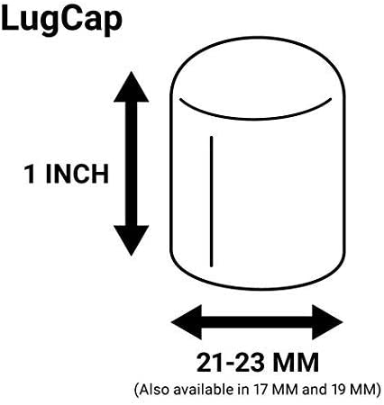 Made in The USA Flexible Fit Lug Nut Cap Pack of 25 /& Deluxe Extractor ColorLugs Vinyl LugCap Lug Nut Cover Black Available in a Variety of Colors and Sizes Fits 21-23mm Wide x 1 Inch deep