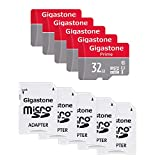 Gigastone 32GB MicroSD Card 5-Pack Micro SDHC U1 C10 with Mini Case