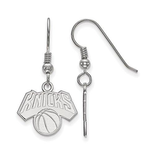 NBA New York Knicks Small Dangle Earrings in Sterling Silver by LogoArt