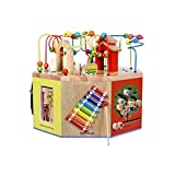 LIUFS-TOY Children's Beaded Treasure Chest Puzzle Early Learning Hexahedron Toy Gift ( Size : S )