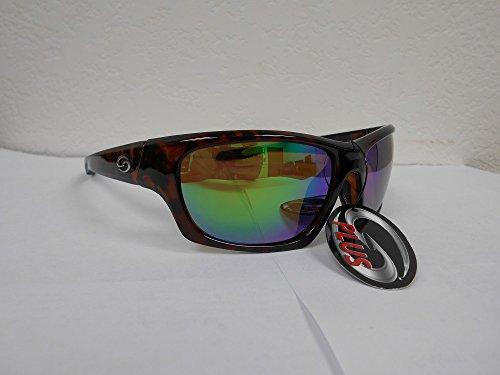 Strike King SK Plus Cypress Sunglasses, Shiny Brown, Green Mirror - SG-SKP431
