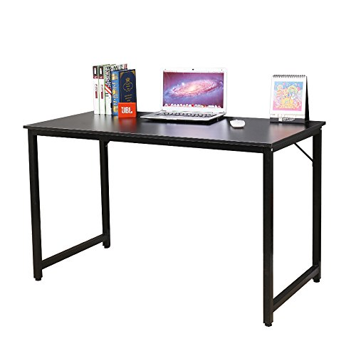 soges 47'' Computer Desk Sturdy Office Meeting/Training Desk Writing Desk Workstation Gaming Table, Black JJ-BK-120 by soges