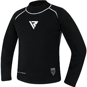 RDX Rash Guard Neoprene Sweat Shirts MMA Compression Base Layer Vest Sauna Suit Thermal Shirt Top