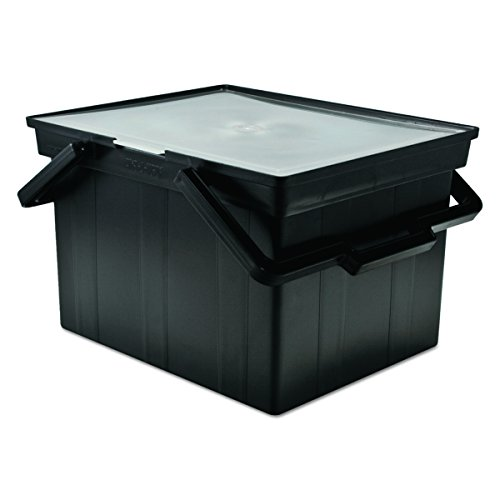- ADVANTUS Companion Letter/Legal Portable Plastic File Box, Includes Lid and Handles, 17 x 14 x 11 Inches, Black (TLF-2B)