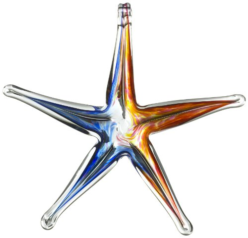 Kitras 6-Inch Starfish Glass Ornament, Sunrise