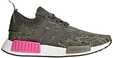 adidas Originals Men's NMD_R1 PK Running Shoe, Utility Grey/Shock Pink, 7 M US